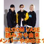 BLOOM VASEの読み方や由来、メンバー、SNSは?Mステで披露する曲は?